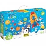 Puzzle educativ Descopera Spatiul 20 piese 48x32cm Banana Panda BP49043