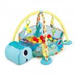 Salteluta de joaca cu bile Ecotoys 88968 broasca testoasa albastra