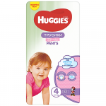 Scutece-chilotel Huggies Mega pack 4 Girl 9-14 kg 52 buc