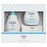 Set Baby Dove Rich Moisture: Lotiune de spalare pentru par si corp, 200 ml + Sampon, 200 ml + Crema scutec, 45 g