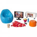 Set Barbie by Mattel Estate Movie Night cu accesorii DVX46