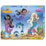Set Sirene cu 4000 margele Hama Midi cu 2 plansete patrat in cutie de cadou