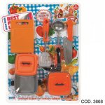 Set accesorii bucatarie plastic in blister RS Toys
