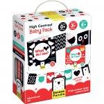 Set carti si cartonase cu contrast ridicat pentru bebelusi 9 piese Banana Panda