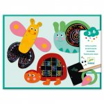 Set creativ de razuit Djeco Animale amuzante