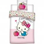 Set lenjerie pat copii Hello Kitty Apples 100x135 + 40x60 SunCity