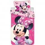 Set lenjerie pat copii Minnie Baby 100x135 + 40x60