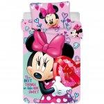 Set lenjerie pat copii Minnie Hearts 100x135 + 40x60 SunCity