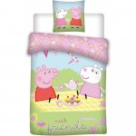 Set lenjerie pat copii Peppa Pig with Friends 100x135 + 40x60 SunCity