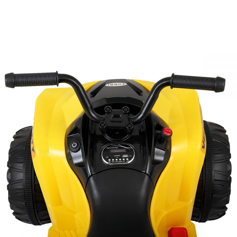 Atv electric cu roti Eva si telecomanda Nichiduta Sport Yellow
