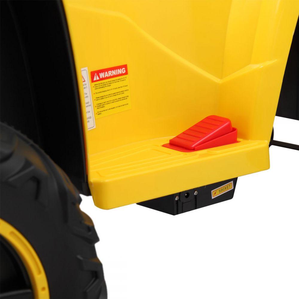 Atv electric cu roti Eva si telecomanda Nichiduta Sport Yellow - 7
