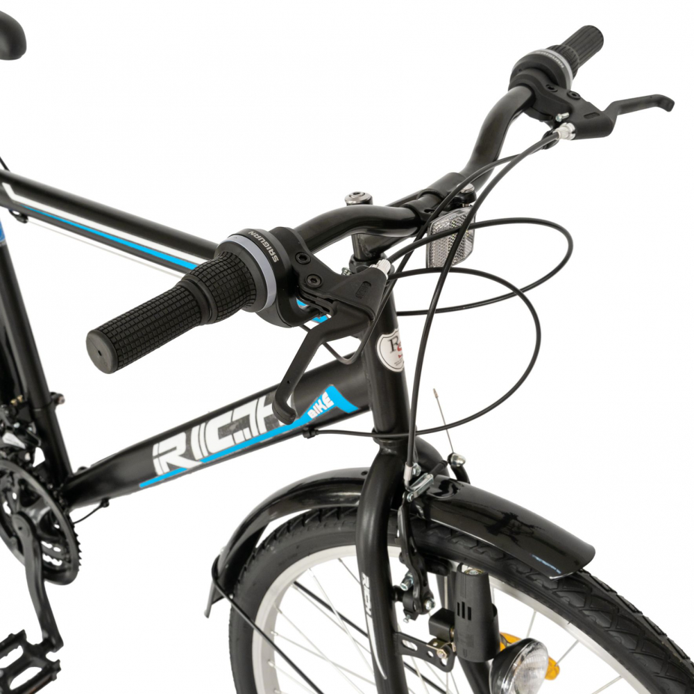 Bicicleta City 26 inch schimbator Sunrun Rich CSR2635A negrualbastru