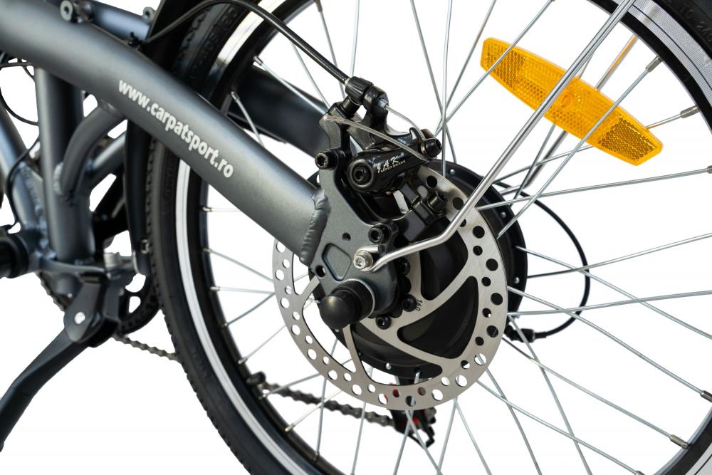 Bicicleta Electrica E-BIKE pliabila roti 20 inch Carpat CSC1005E grialb