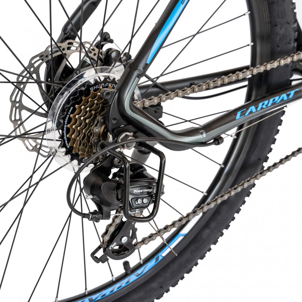 Bicicleta MTB-HT Shimano Tourney TY-300 27.5 inchCarpat CSC2757C negrualbastru