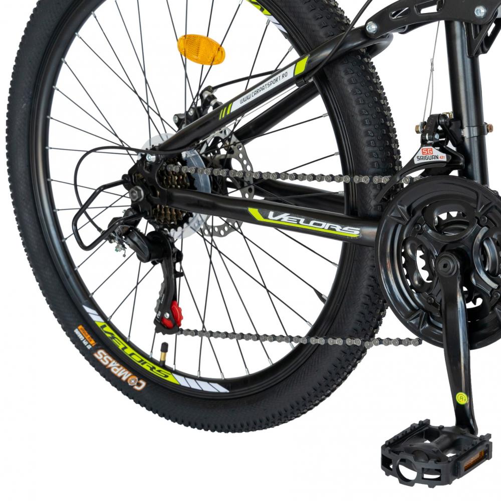 Bicicleta MTB-HT Shimano Tourney TZ500D 18 Viteze 26 inch CSV2660D negruverde