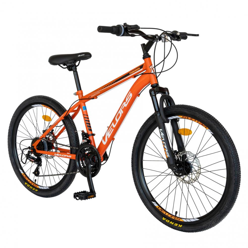 Bicicleta MTB-HT Saiguani 24 inch Velors Poseidon CSV2409A portocaliualbnegru