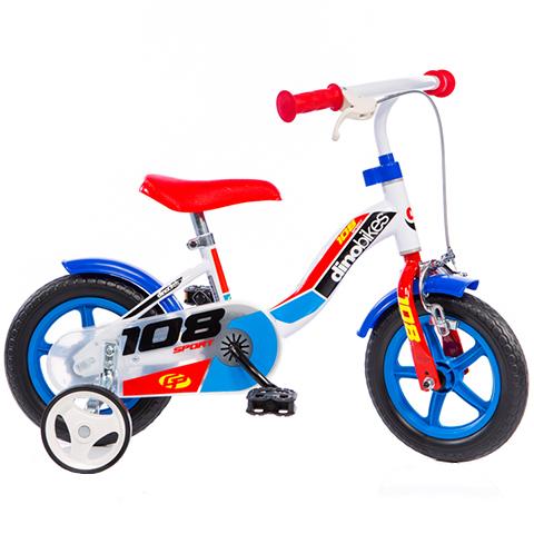 Bicicleta copii cu maner pentru parinti Dino Bikes albastru