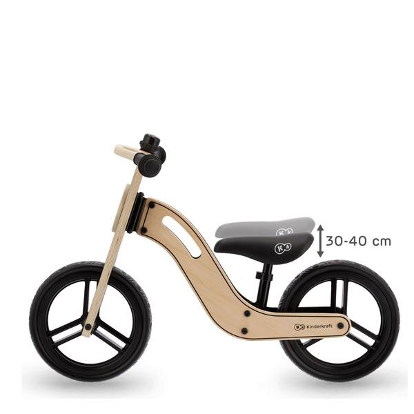Bicicleta din lemn fara pedale Uniq Natural