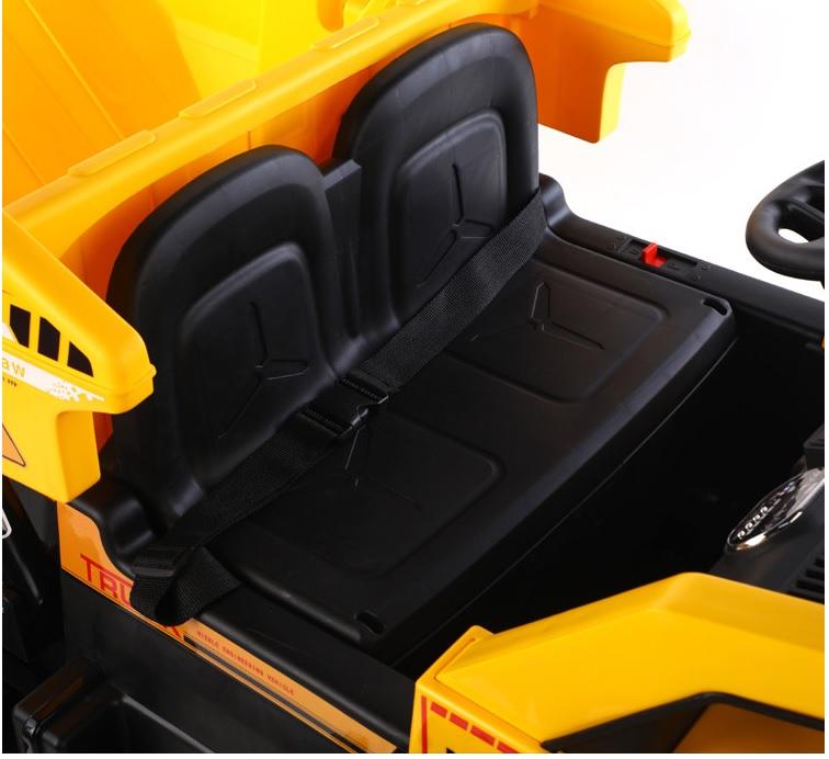 Camion electric 4x4 cu scaun din piele Nichiduta Power Yellow - 1