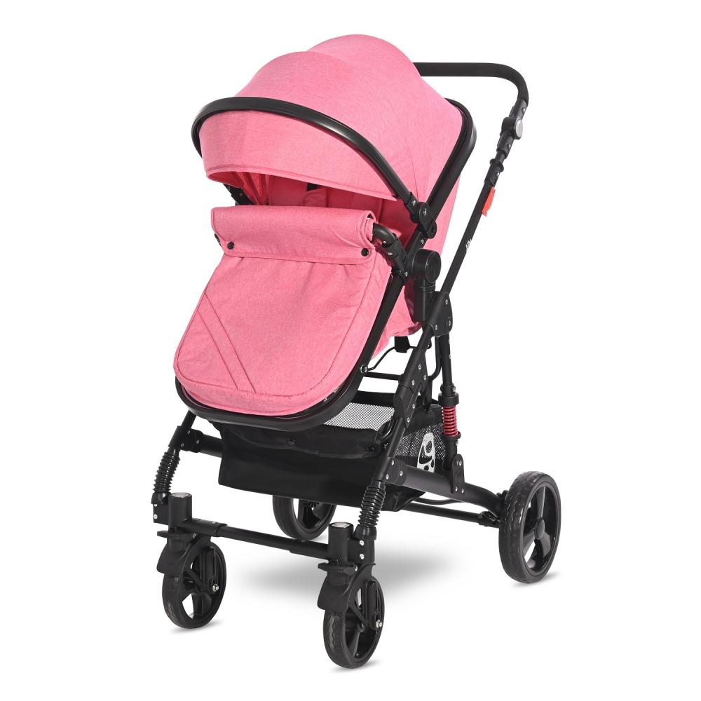 LORELLI Carucior 3 in 1 Alba Classic cos auto inclus Candy pink