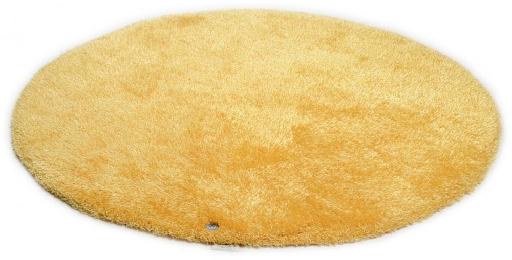 Covor Shaggy Soft rotund galben 140x140