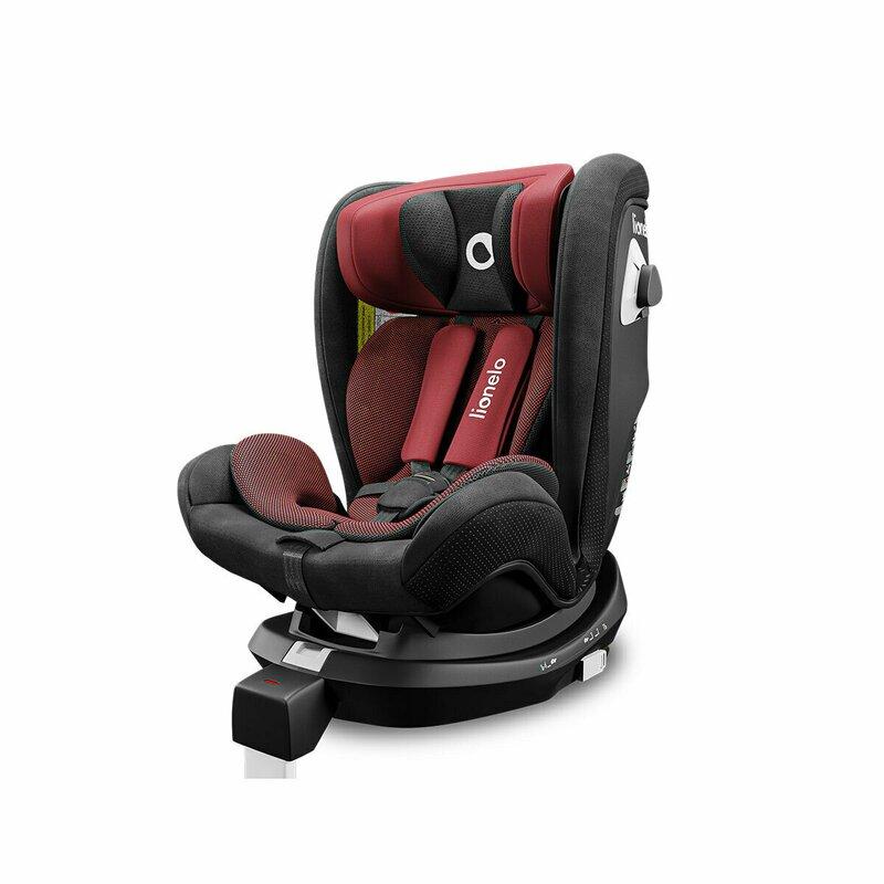 Scaun auto Braam rotativ 360 grade cu isofix 0-36 kg Red Burgundy