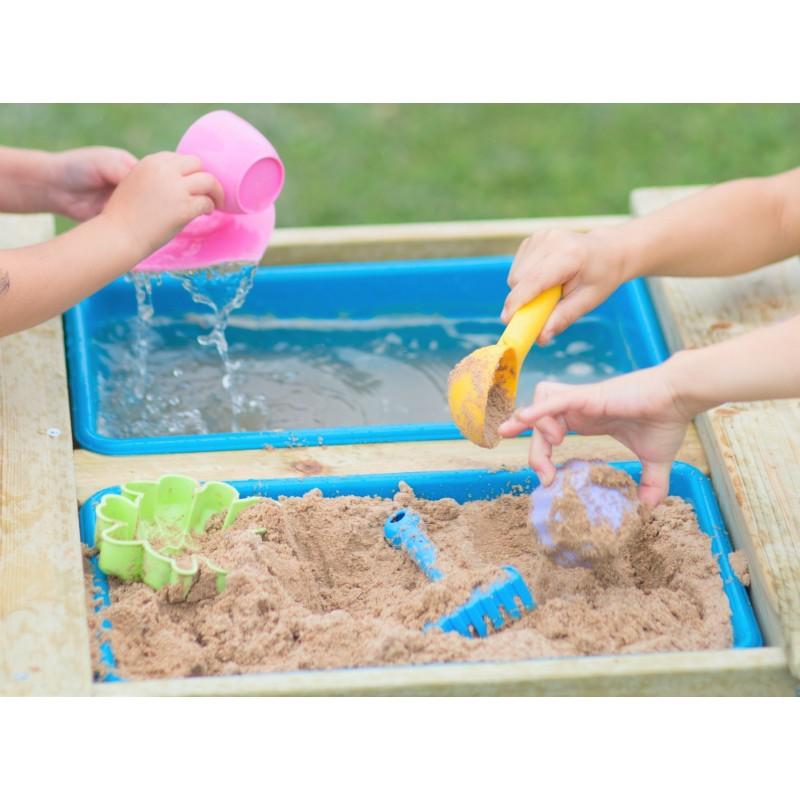 Masa de picnic senzoriala cu bancute si loc pentru nisip si apa T3 Wendi Toys