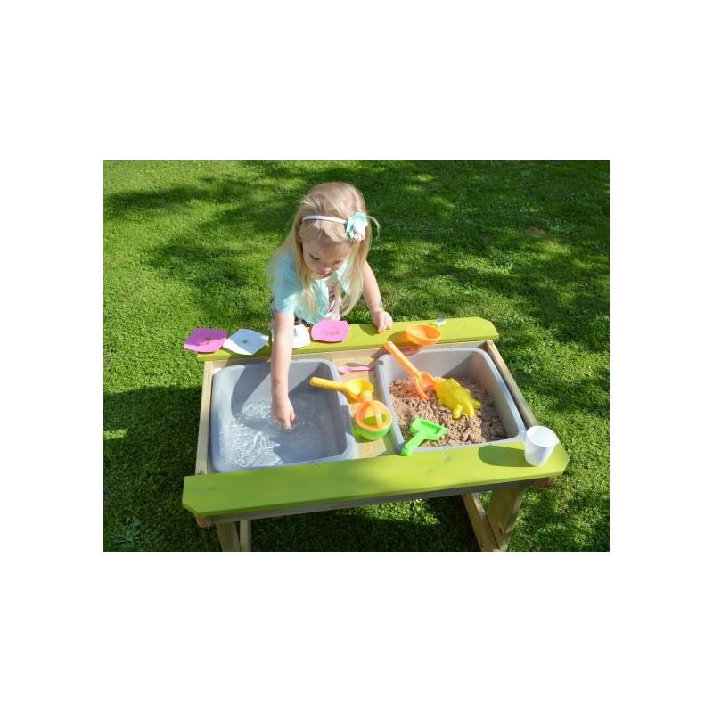 Masa de picnic senzoriala cu loc pentru nisip si apa T1 Wendi Toys