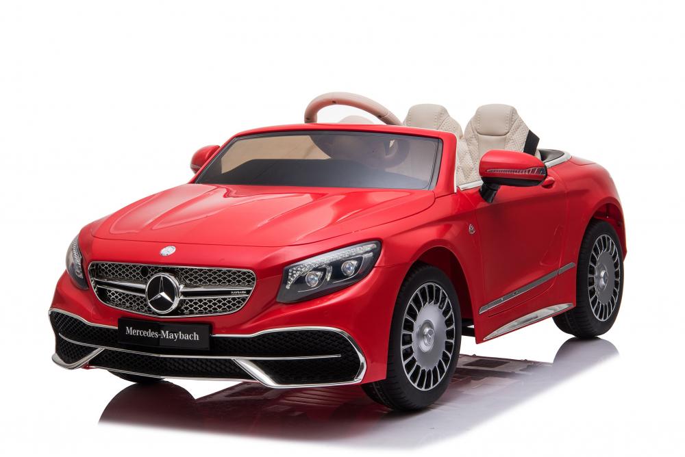 Masinuta electrica cu roti EVA si scaun din piele Mercedes Maybach S650 Cabriolet Red