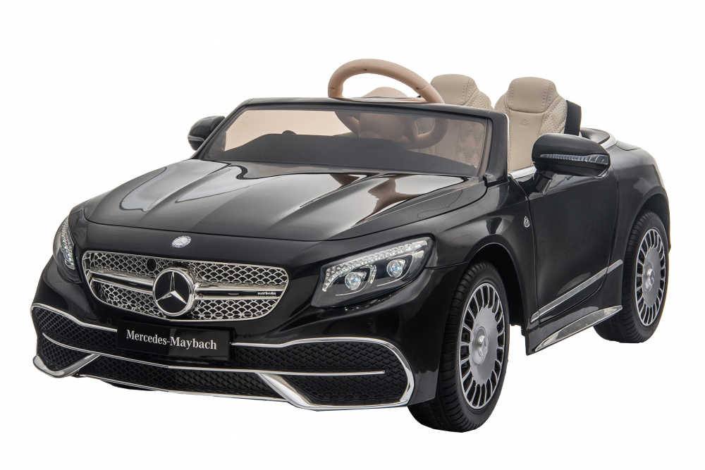 Masinuta electrica cu roti EVA si scaun din piele Mercedes Maybach S650 Cabriolet Black - 4
