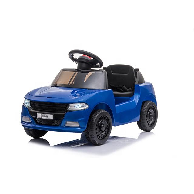 Masinuta electrica cu roti din cauciuc EVA Nichiduta First race Blue