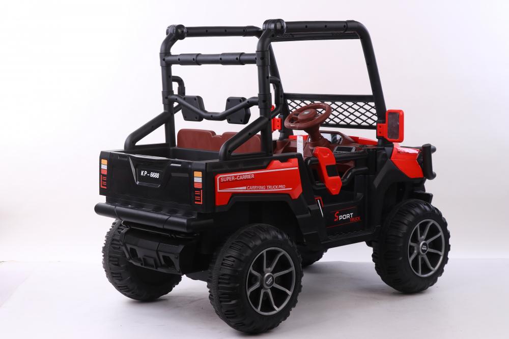 Masinuta electrica cu scaun din piele Nichiduta Sport Truck Red
