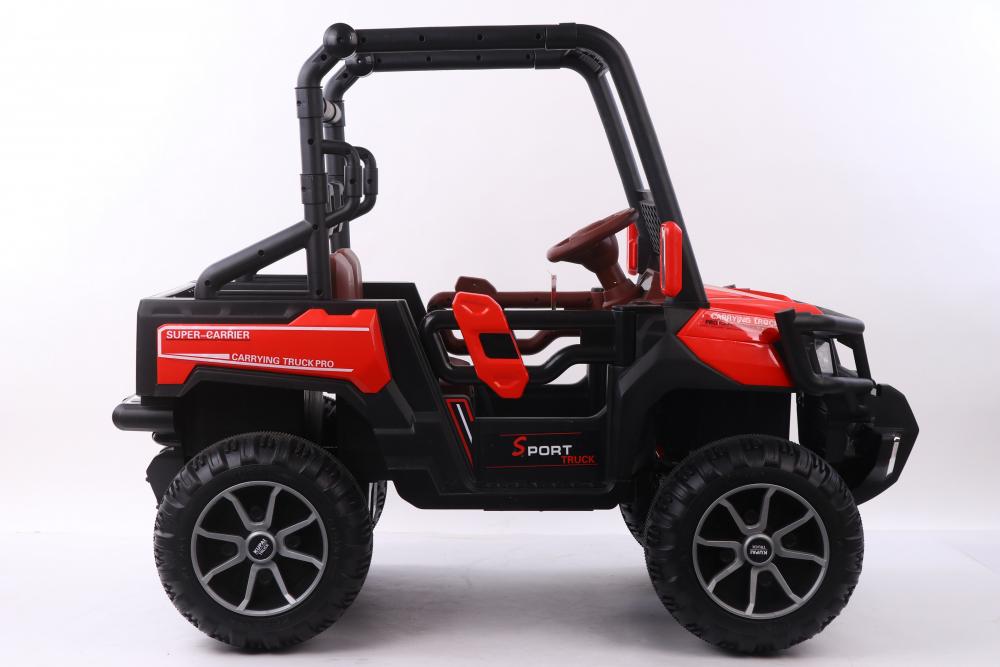Masinuta electrica cu scaun din piele Nichiduta Sport Truck Red - 1