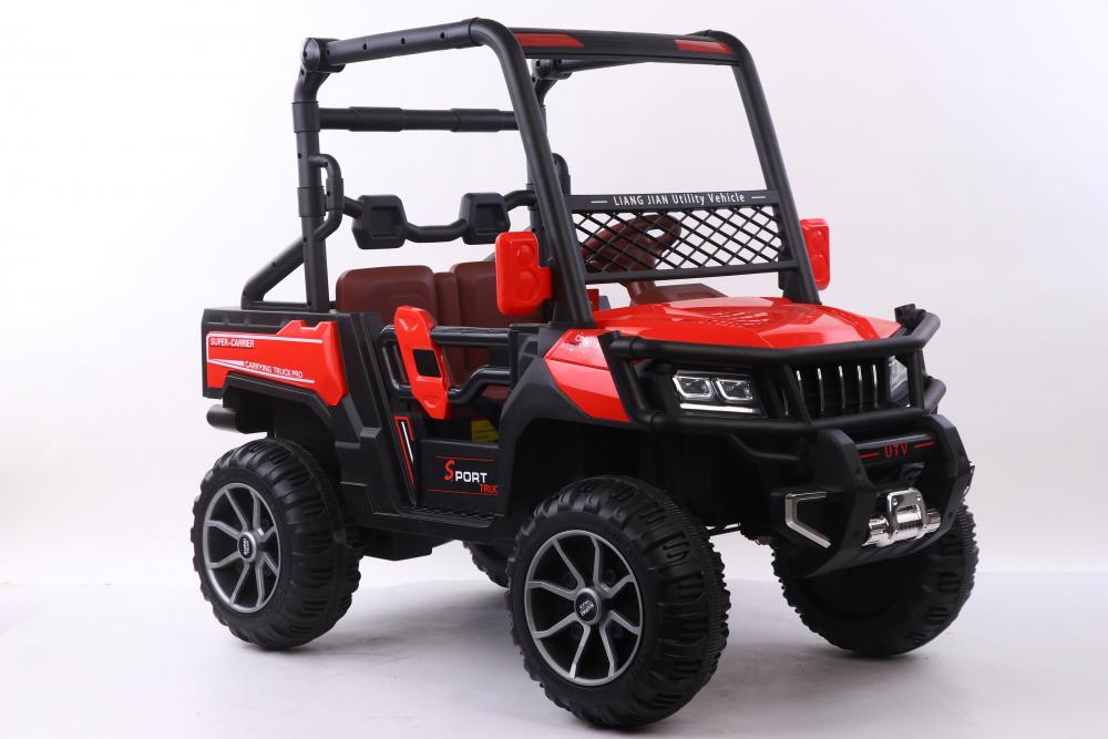 Masinuta electrica cu scaun din piele Nichiduta Sport Truck Red - 2