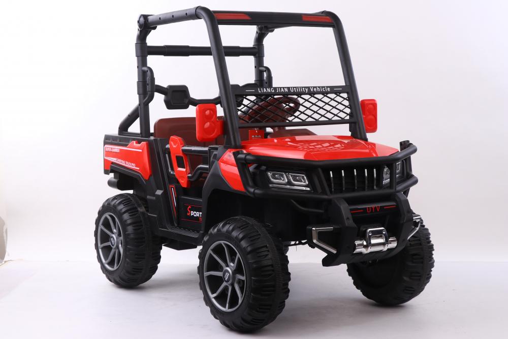 Masinuta electrica cu scaun din piele Nichiduta Sport Truck Red - 3