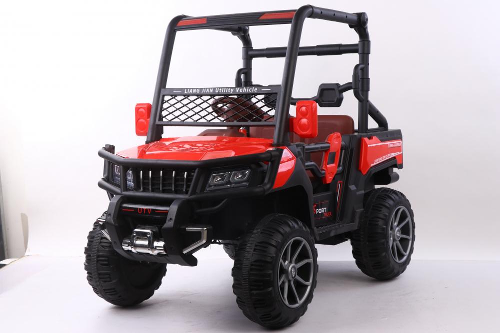 Masinuta electrica cu scaun din piele Nichiduta Sport Truck Red - 6