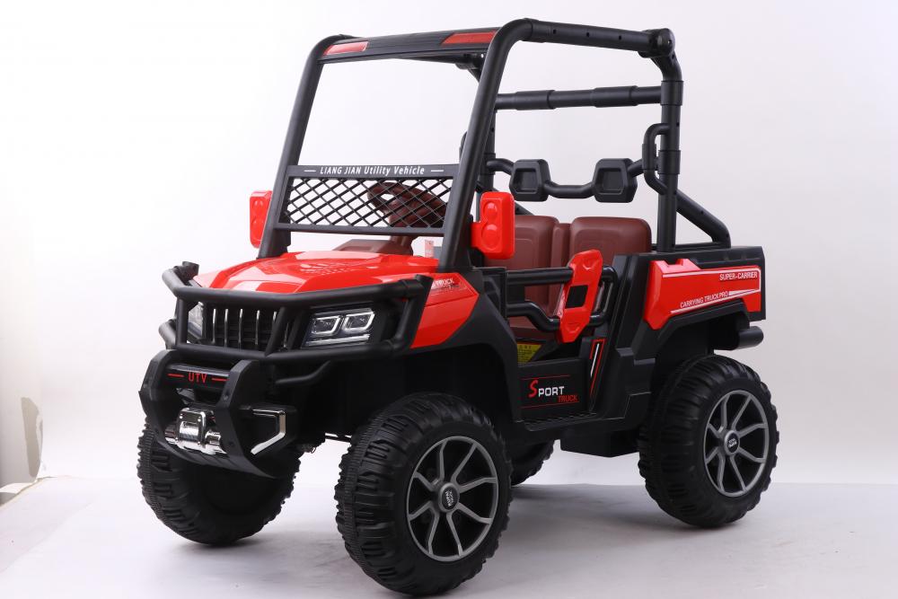 Masinuta electrica cu scaun din piele Nichiduta Sport Truck Red - 7