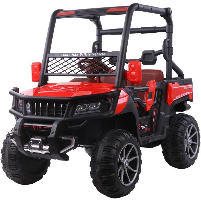 Masinuta electrica cu scaun din piele Nichiduta Sport Truck Red - 8