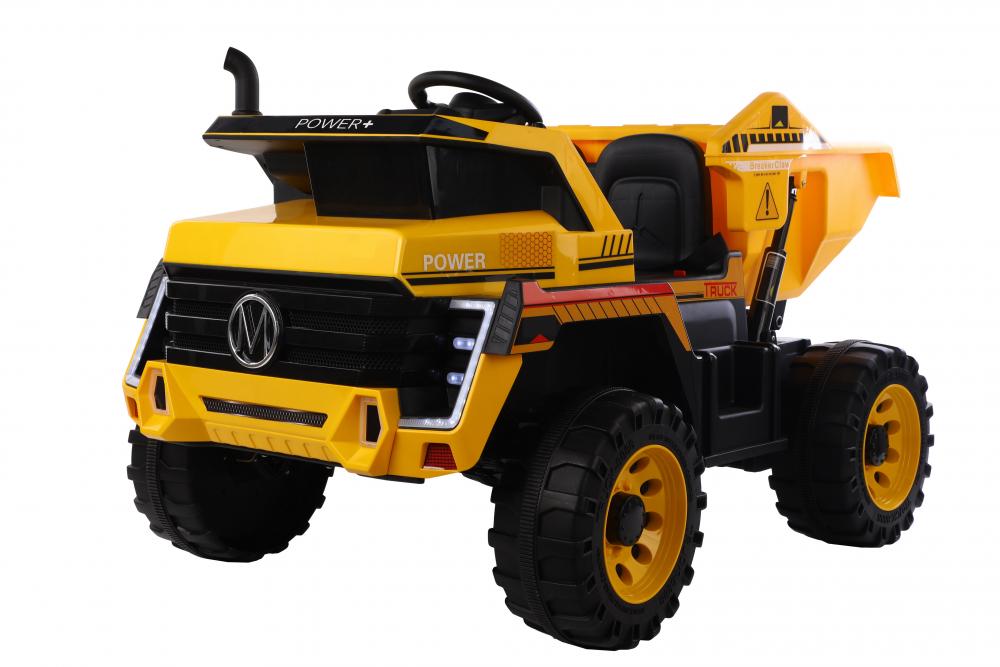Camion electric 4x4 cu scaun din piele Nichiduta Power Yellow - 5