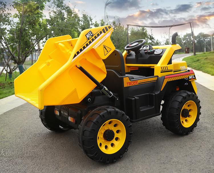 Camion electric 4x4 Nichiduta cu 2 locuri si scaun din piele Dump Truck Yellow - 2