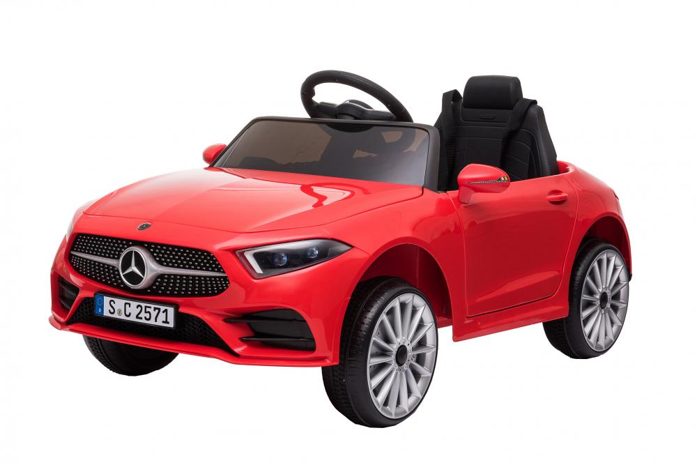 Masinuta electrica cu scaun din piele si licenta Mercedes Benz CLS350 Red - 4