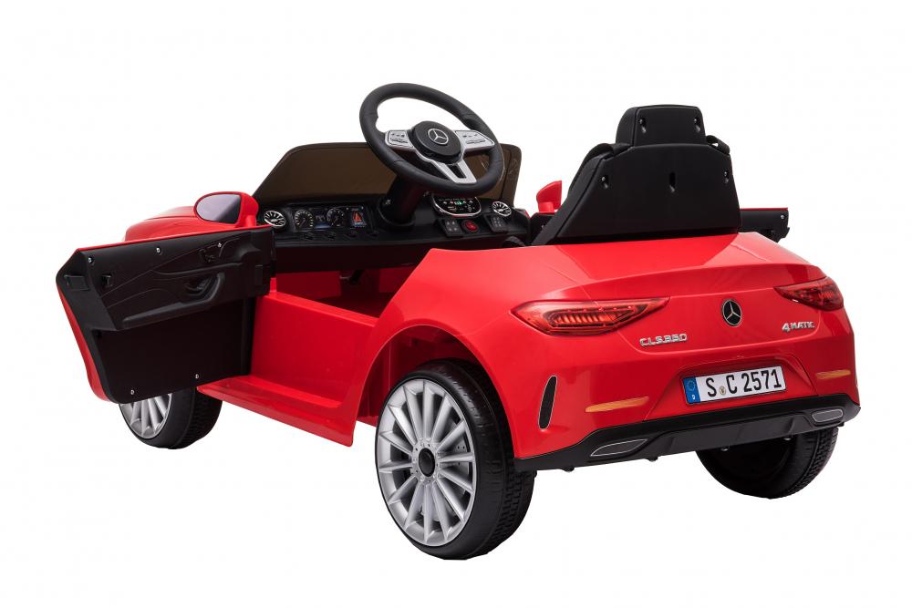 Masinuta electrica cu scaun din piele si licenta Mercedes Benz CLS350 Red - 3