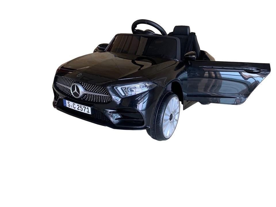 Masinuta electrica cu scaun din piele si licenta Mercedes Benz CLS350 Black