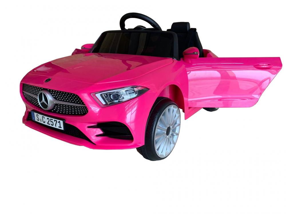 Masinuta electrica cu scaun din piele si licenta Mercedes Benz CLS350 Pink