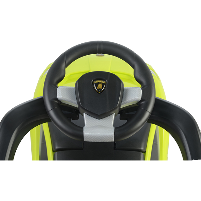 Masinuta fara pedale cu maner parental Lamborghini Centenario Green
