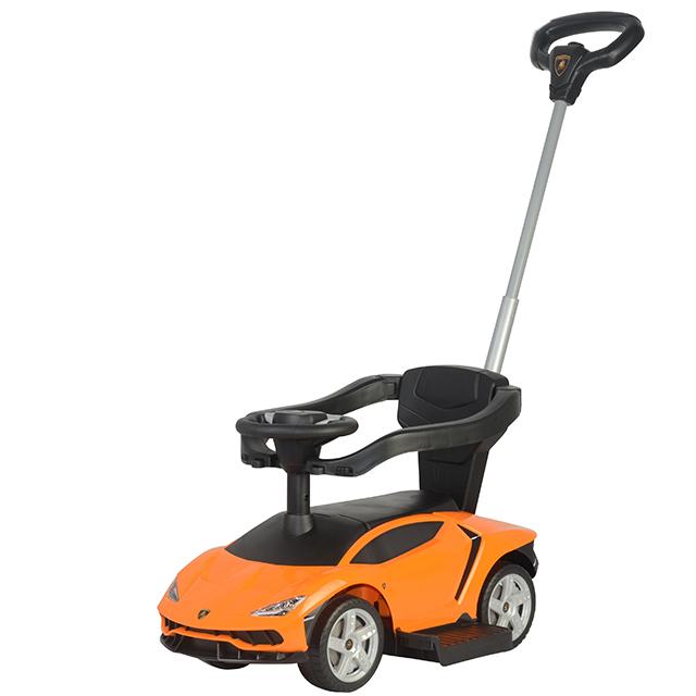Masinuta Fara Pedale Cu Maner Parental Lamborghini Centenario Orange
