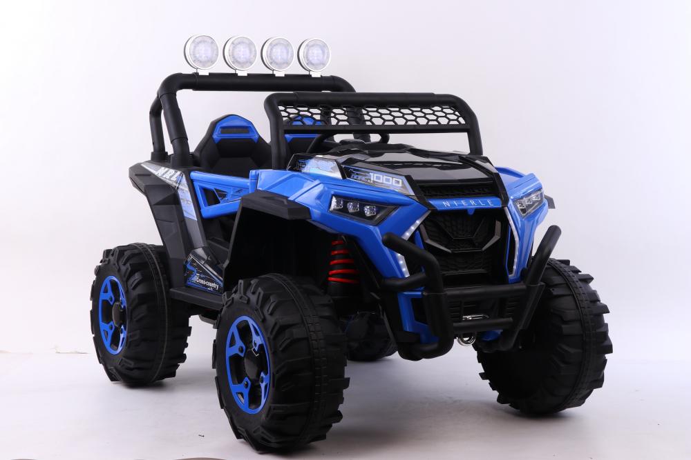 Masinuta electrica 4x4 cu scaun din piele Nichiduta Cross Country Blue - 4