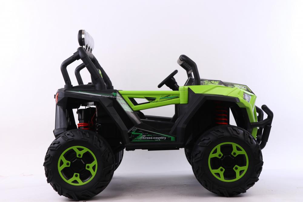 Masinuta electrica 4x4 cu scaun din piele Nichiduta Cross Country Green