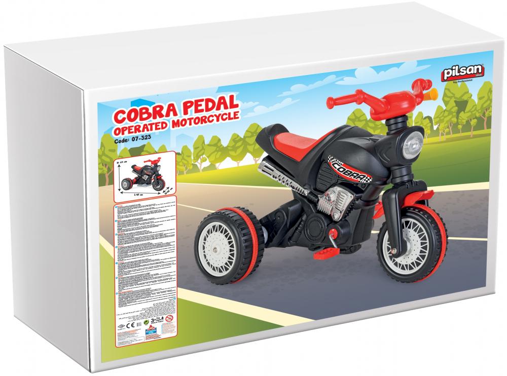 Motocicleta cu pedale si lant Pilsan Cobra