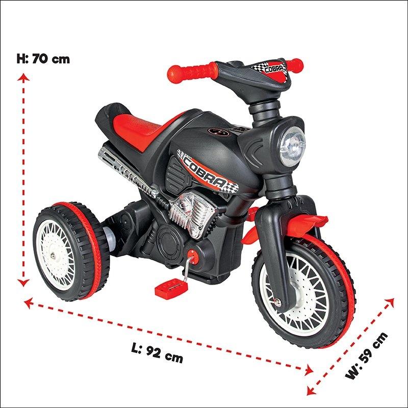 Motocicleta cu pedale si lant Pilsan Cobra - 2